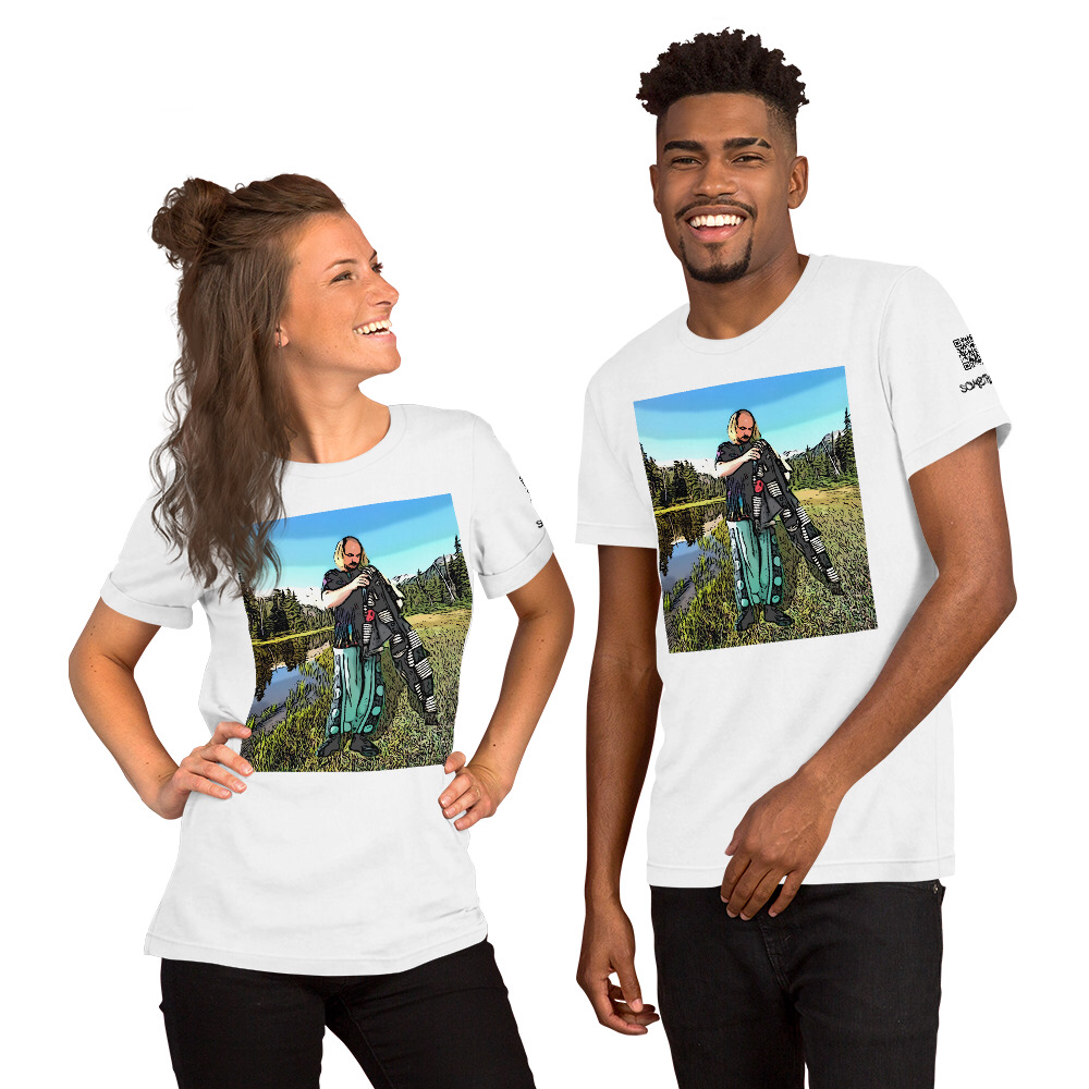 Powder mountains comic T-shirt