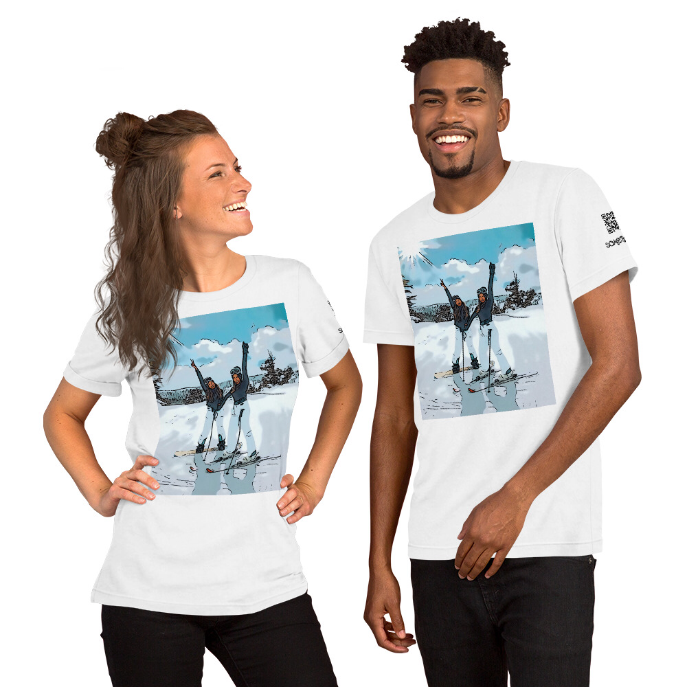 Winter sports comic T-shirt