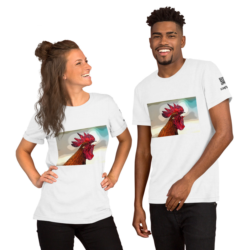 Rooster comic T-shirt
