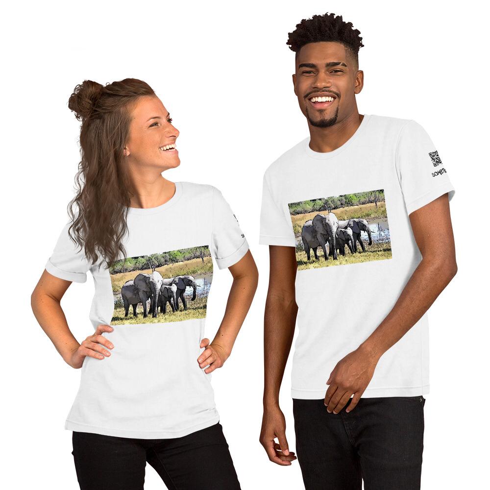 Elephants comic T-shirt