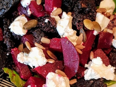 Beetroot black pudding