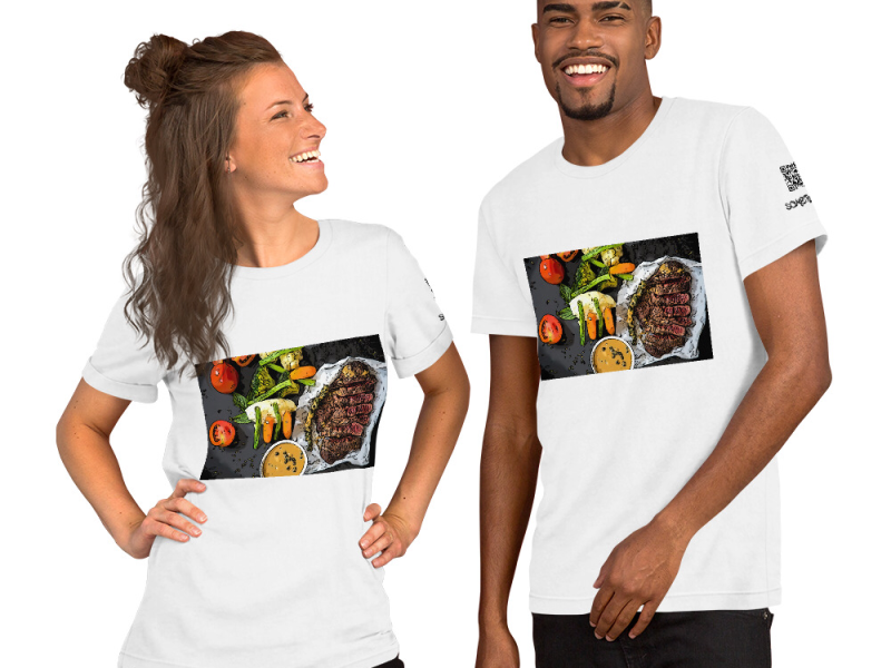 Steak comic T-shirt