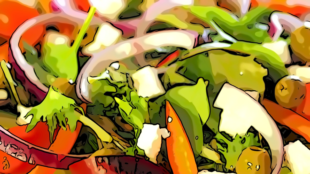 Salad header comic
