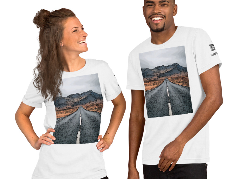 Long road comic T-shirt