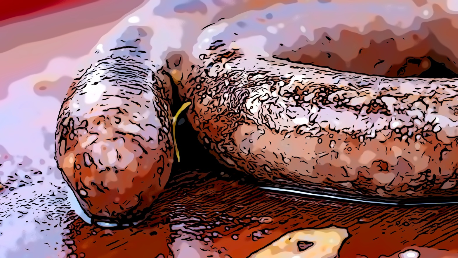 Sausages header comic