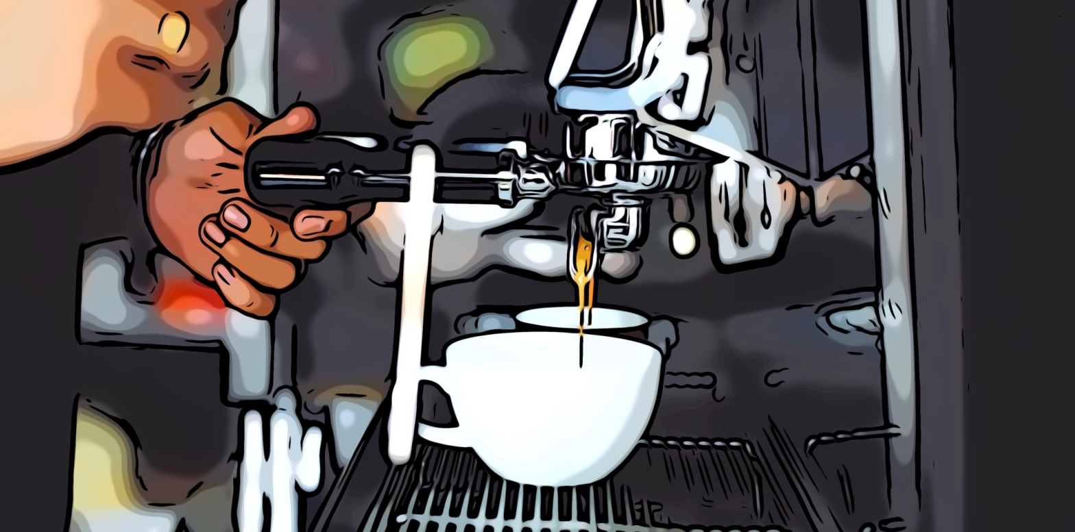 Coffee header comic