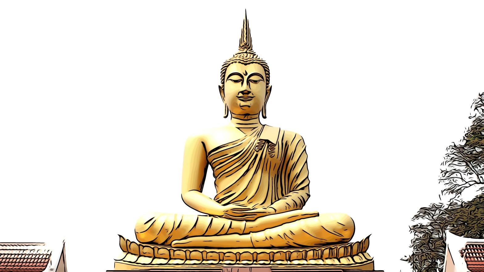 Buddha header comic