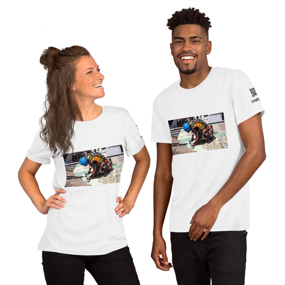 Building comic T-shirt