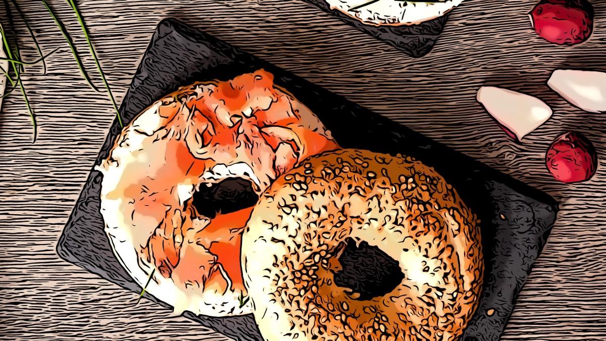 Bagel header comic