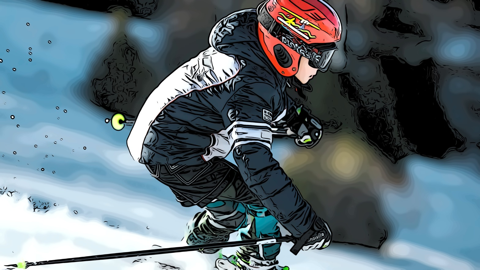 Skiing header comic
