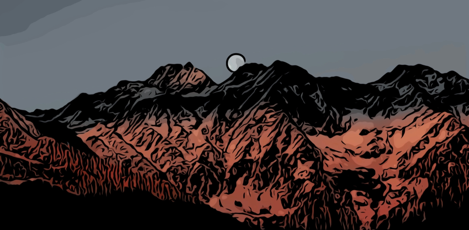 Mountains header comic