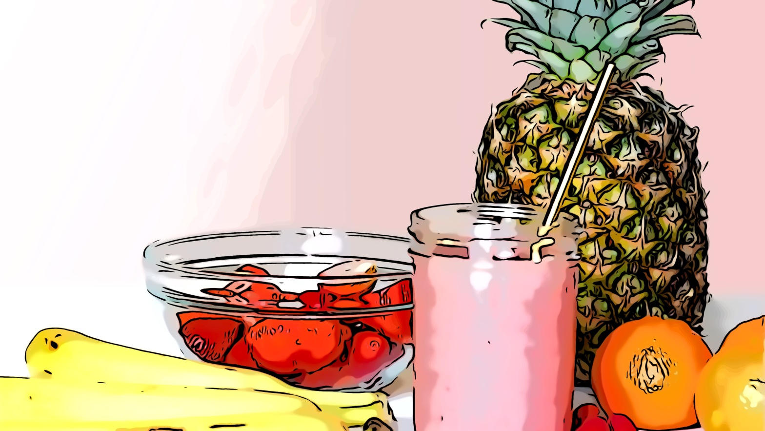 Exotic fruit header comic