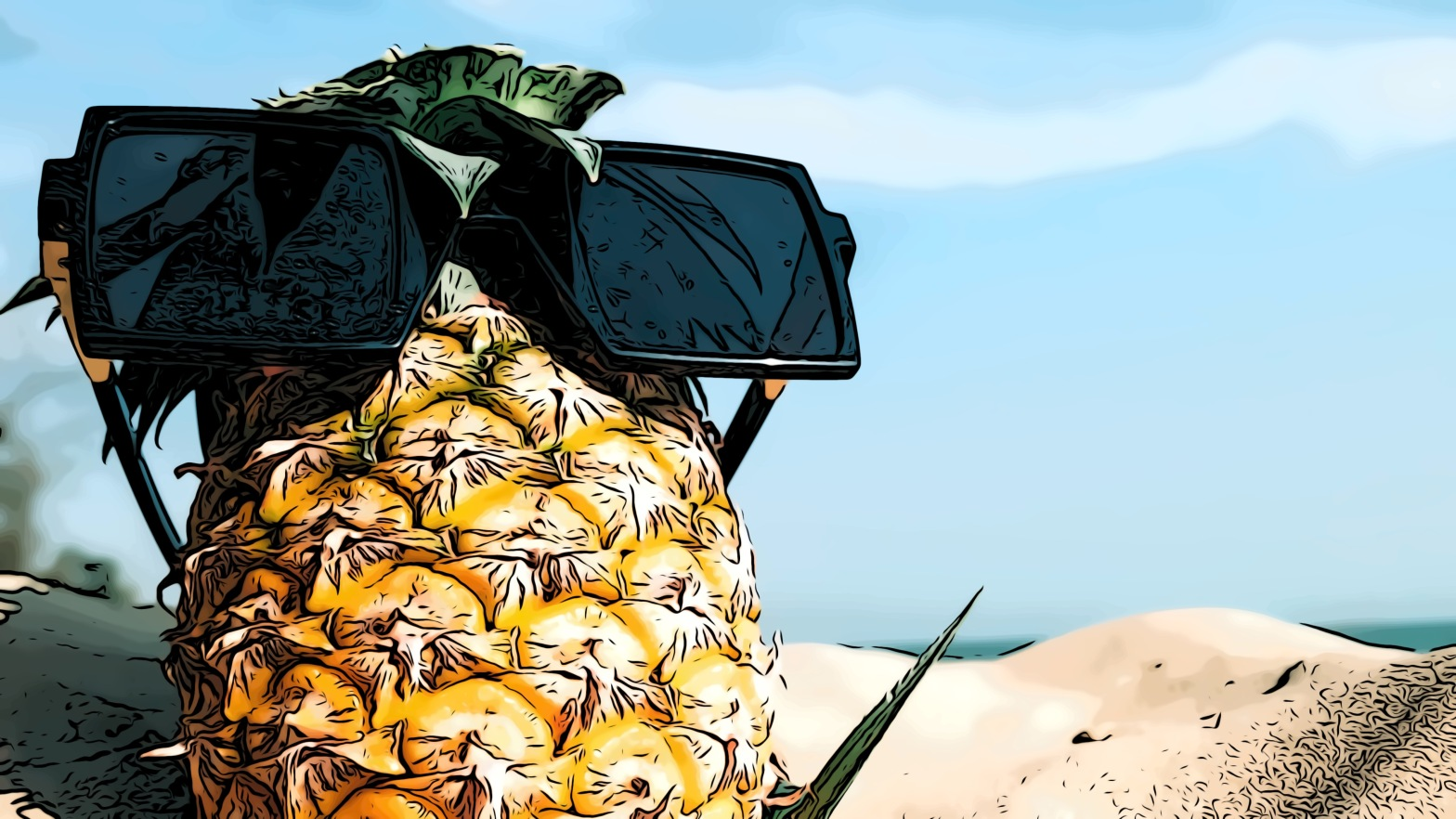 Pineapple header comic