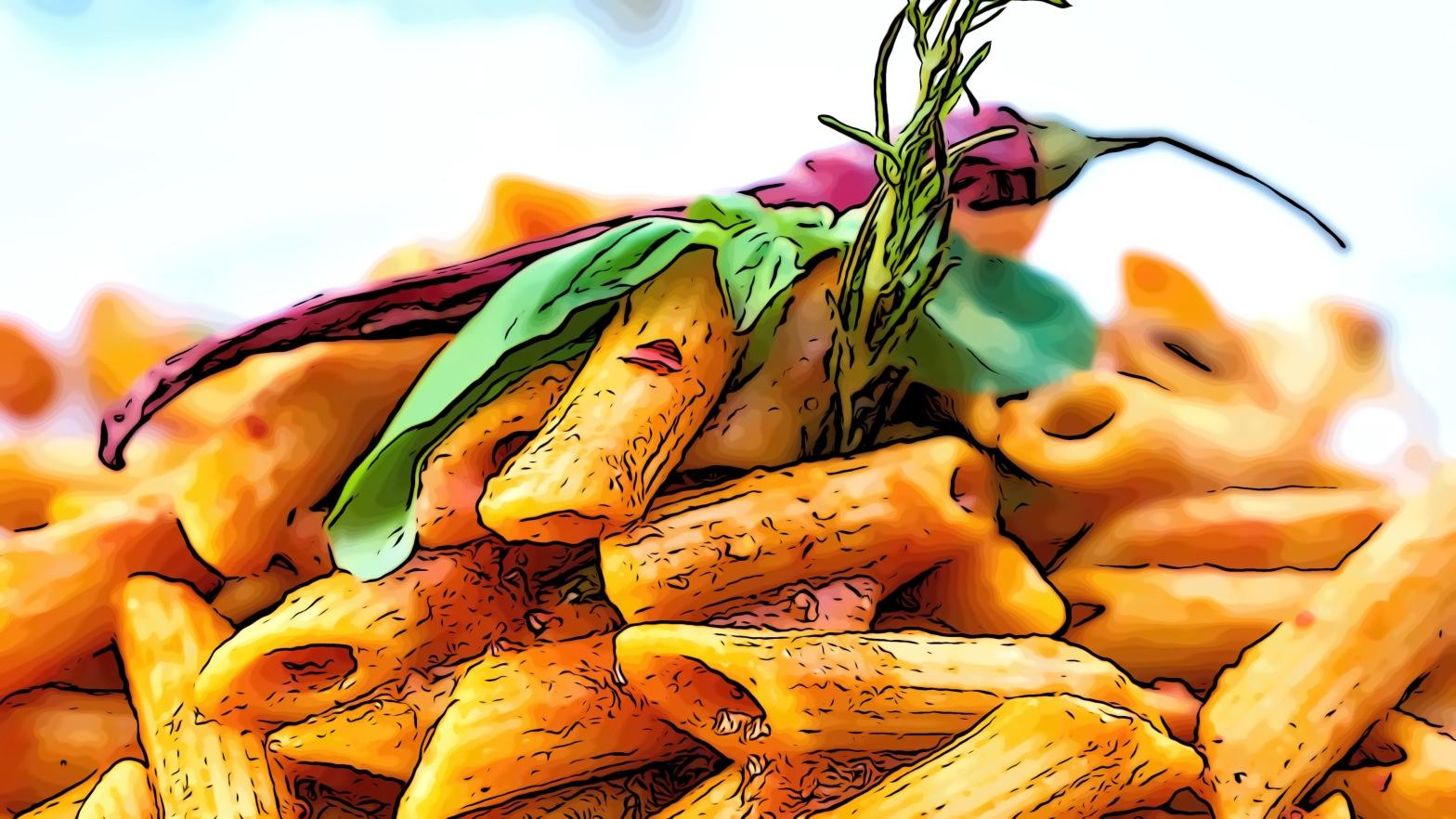 Pasta header comic