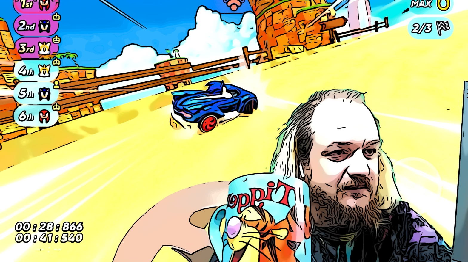 Sonic racing header comic