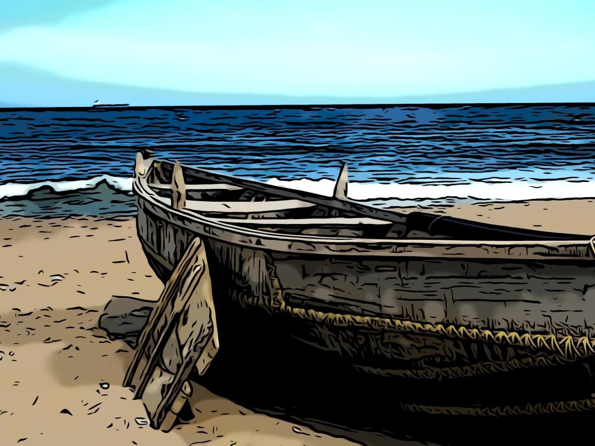 Boat header comic
