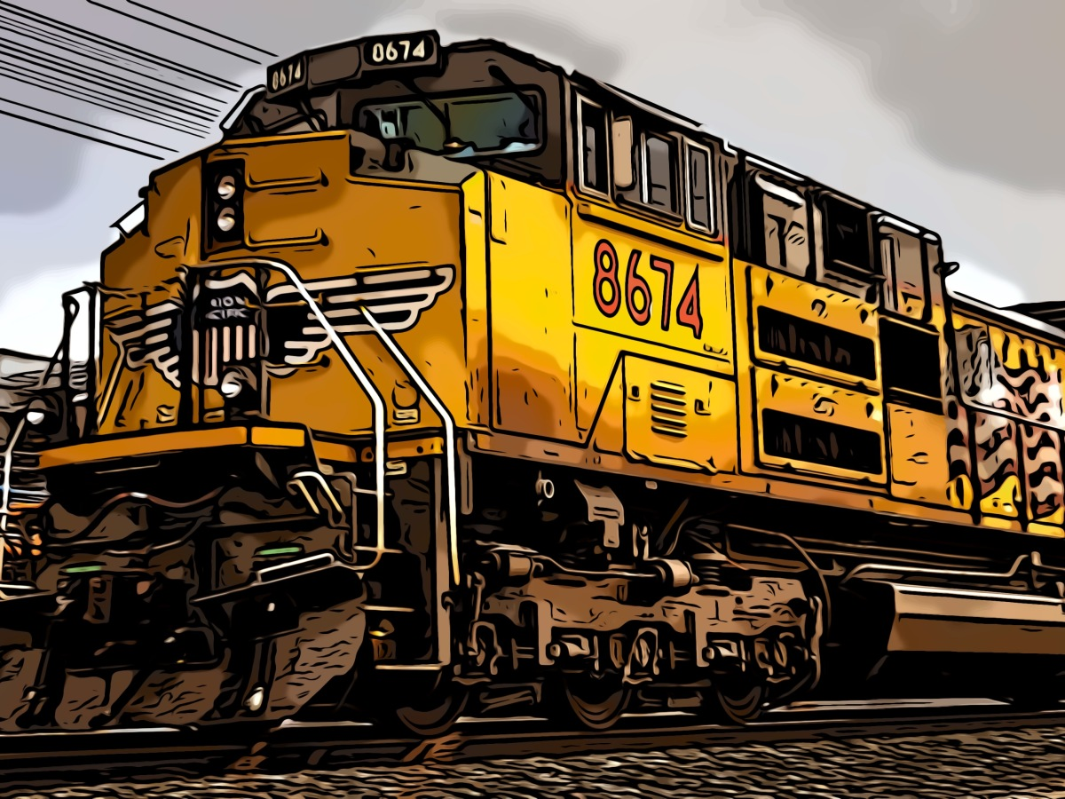 Train header comic
