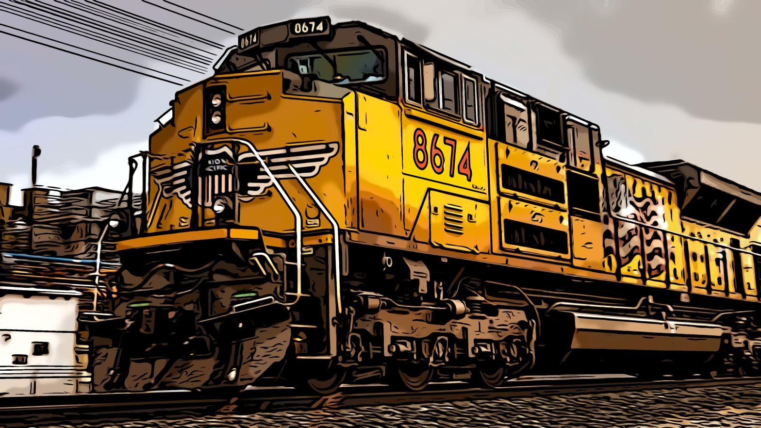Train header comic