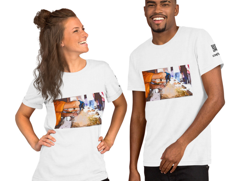 Street food comic T-shirt