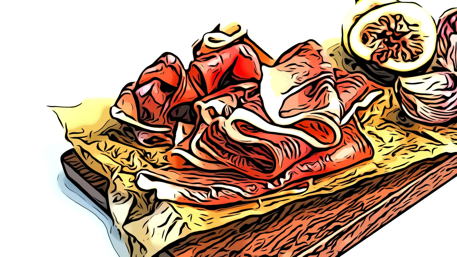 Ham header comic