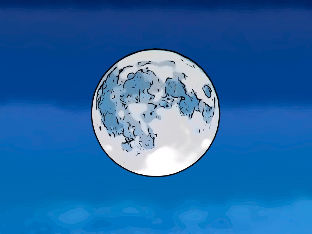 Moon header comic