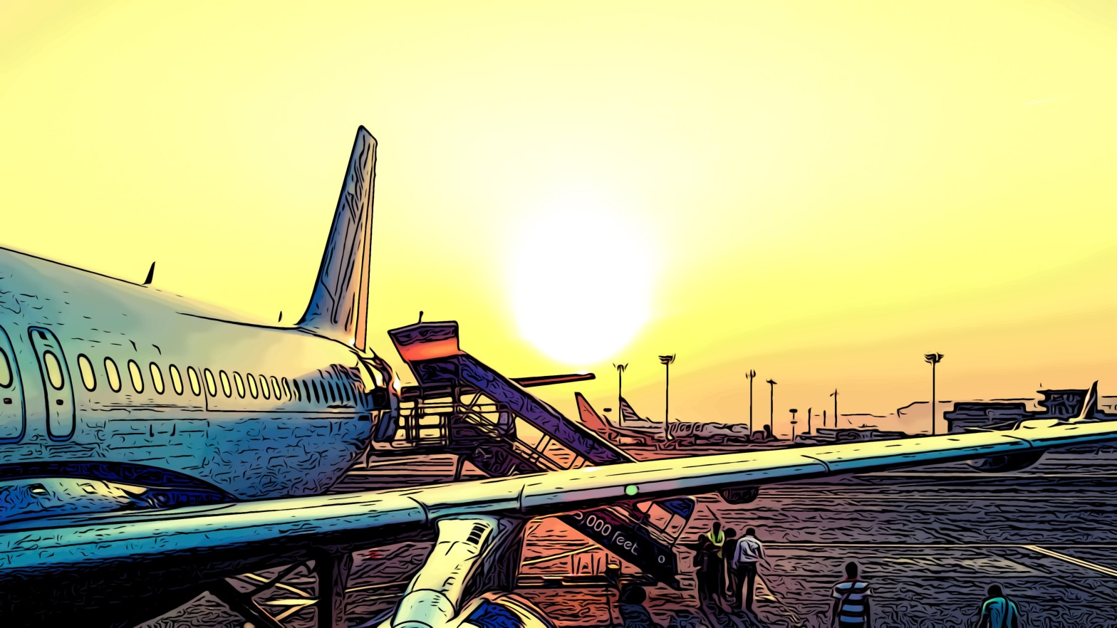 Airport header comic