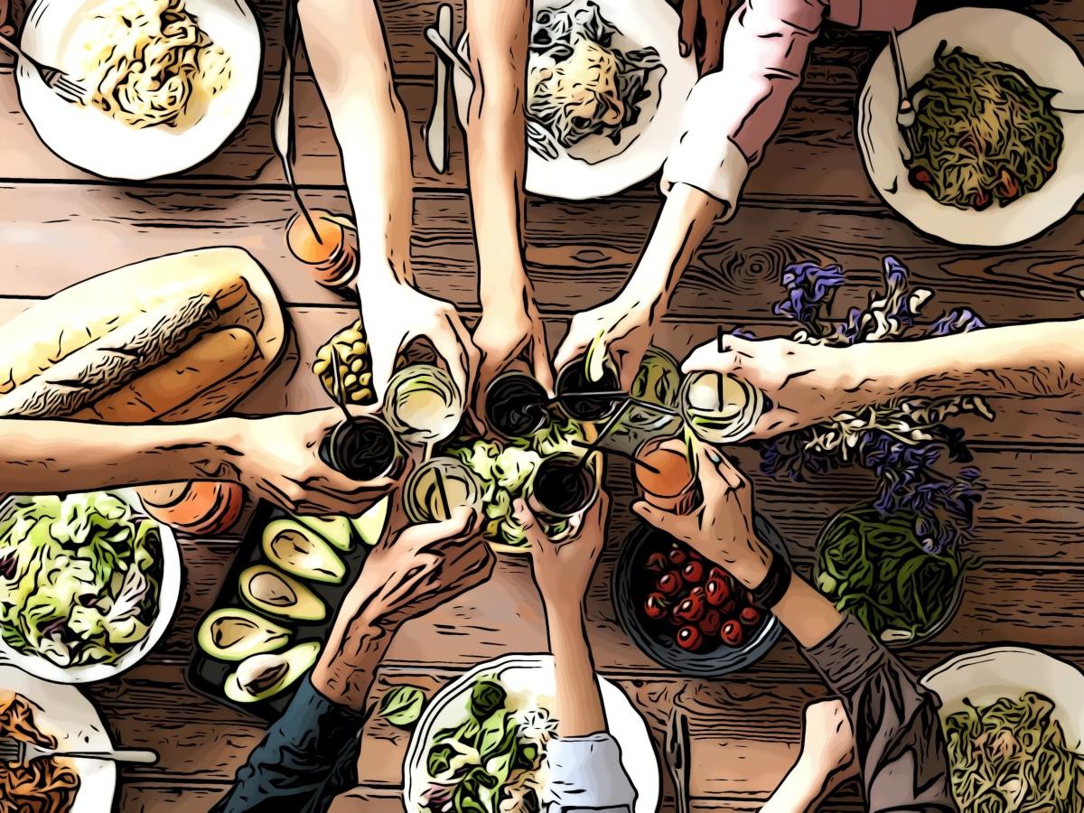 Food header comic