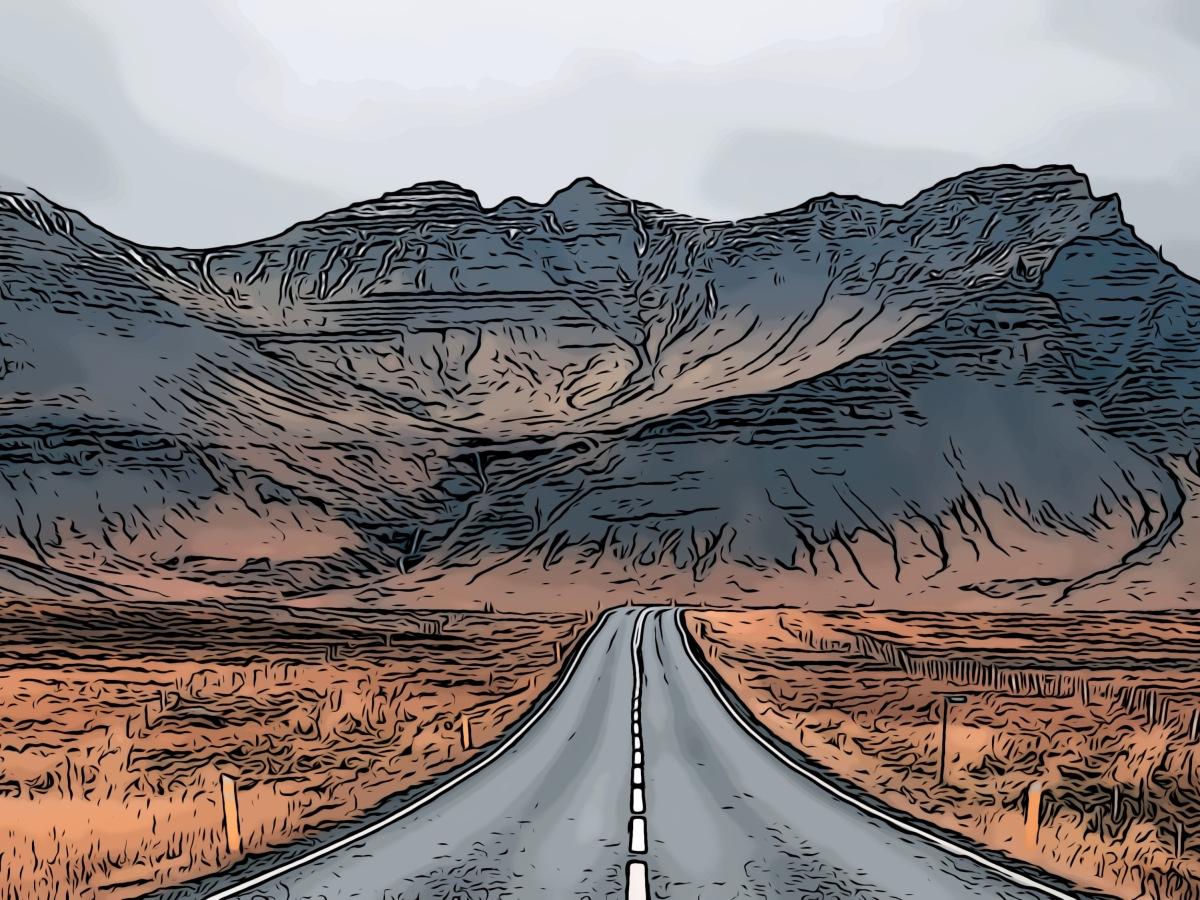 Open road header comic
