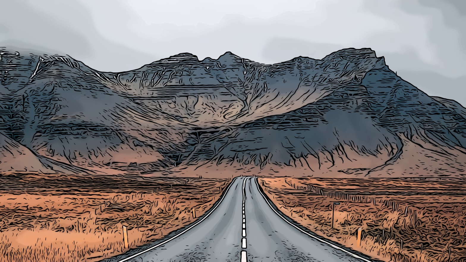 Open road header comic