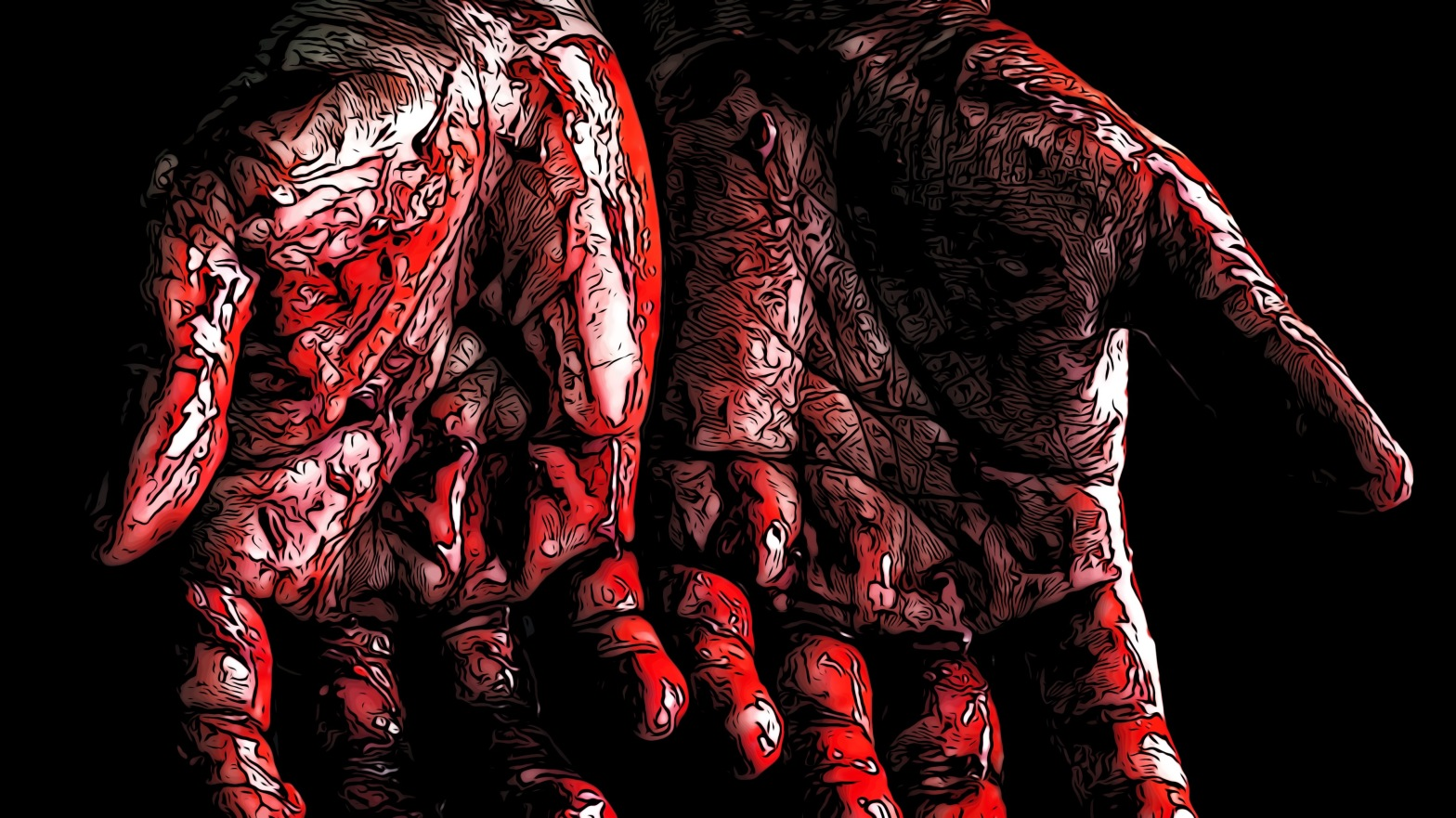 Blood header comic