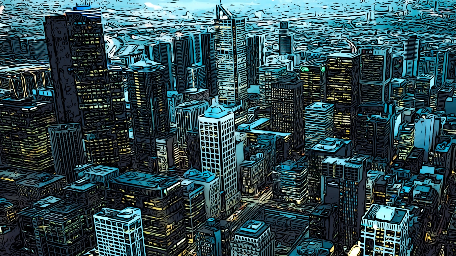 City header comic